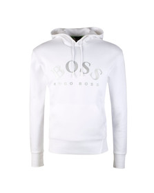 Boss Mens White Sly Overhead Hoody