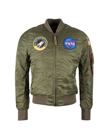 Alpha Industries Mens Green MA1 Nasa Jacket