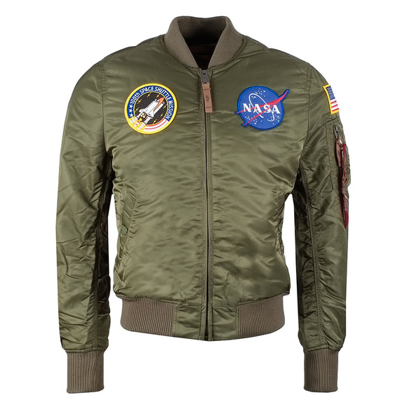 Alpha Industries Mens Green MA1 Nasa Jacket main image