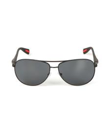 Prada Sport Mens Black Prada Sport 51OS Rounded Sunglasses