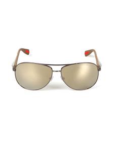 Prada Sport Mens Grey Prada Sport 51OS Rounded Sunglasses
