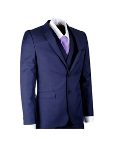 Hugo Mens Blue Admon/Wilms/Hesten 3 Piece Suit