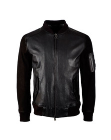BOSS Orange Mens Black Jixx Leather Jacket