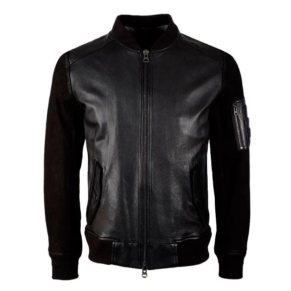 BOSS Mens Black Casual Jixx Leather Jacket main image