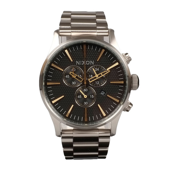 Nixon Mens Silver Sentry Chrono Watch main image