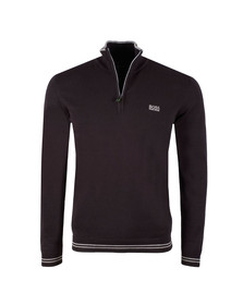 Boss Mens Black Zime Half Zip Jumper