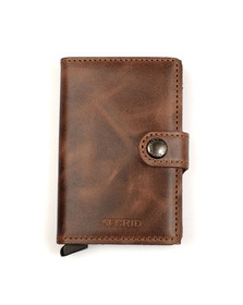 Secrid Mens Brown Mini Vintage Wallet
