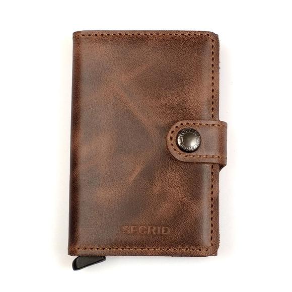 Secrid Mens Brown Mini Vintage Wallet