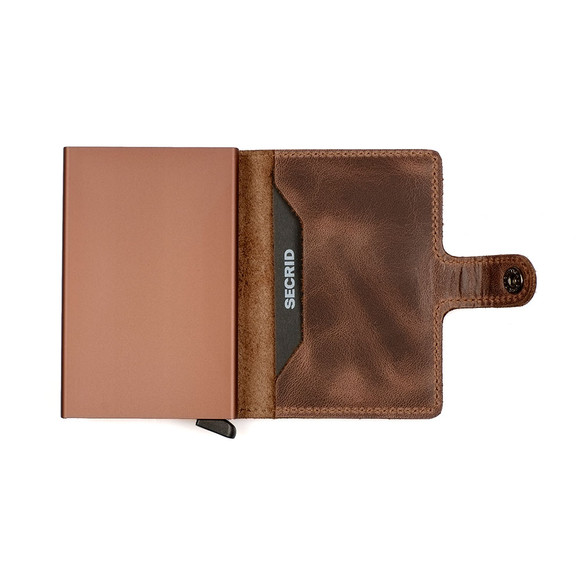Secrid Mens Brown Mini Vintage Wallet main image