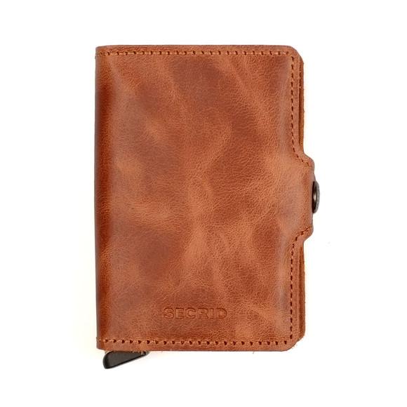 Secrid Mens Brown Vintage Twin Wallet