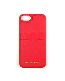 Michael Kors Womens Red Iphone 7/7S Leather Cover
