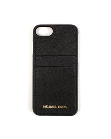 Michael Kors Womens Black Iphone 7/7S Leather Cover