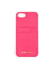 Michael Kors Womens Ultra Pink Iphone 7/7S Leather Cover