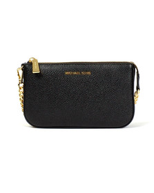 Michael Kors Womens Black Mid Chain Pouchette