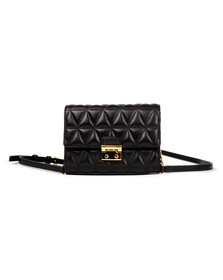 Michael Kors Womens Black Ruby Mid Clutch