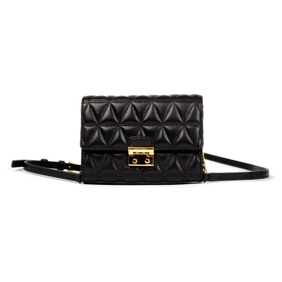 Michael Kors Womens Black Ruby Mid Clutch main image