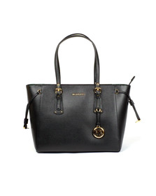Michael Kors Womens Black Voyager Mid Tote