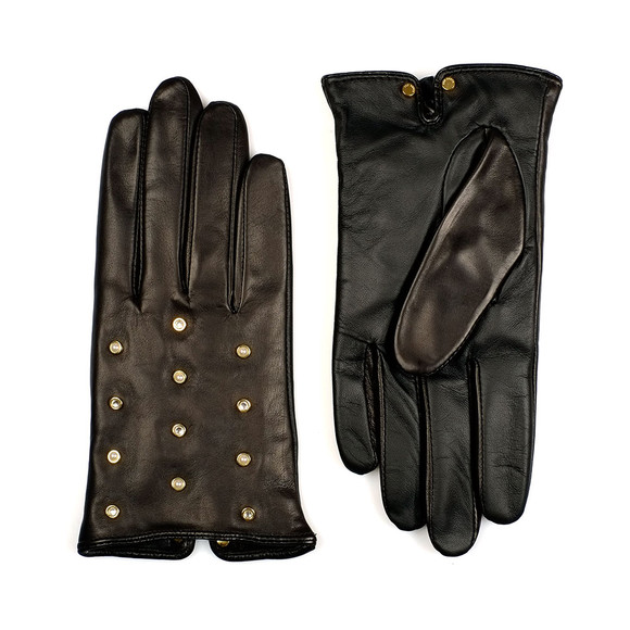 Ted Baker Womens Black Zoie Pearl Crystal Scattered Glove main image
