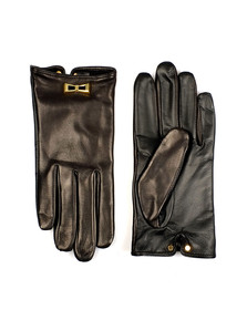 Ted Baker Womens Black Dolly Bow Inlay Gloves