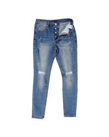 Kings Will Dream Mens Blue Lumor Distressed Jean