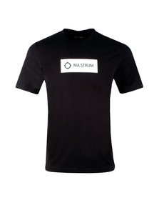 Ma.Strum Mens Black Icon Box Logo Tee