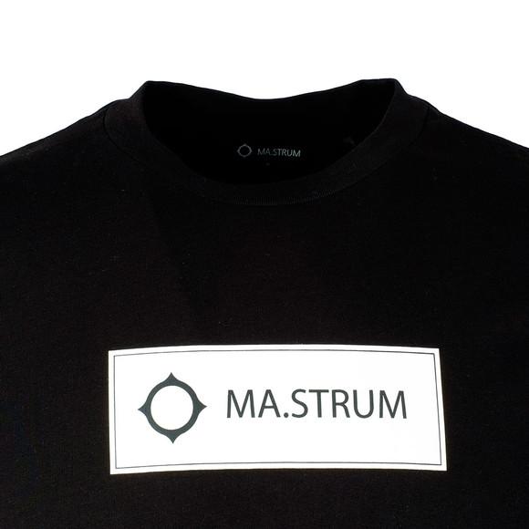 Ma.Strum Mens Black Icon Box Logo T-Shirt main image