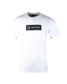 Ma.Strum Mens White Icon Box Logo Tee