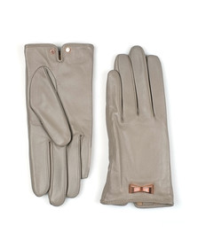Ted Baker Womens Grey Dolly Bow Inlay Gloves