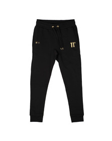 Eleven Degrees Mens Black Gold Logo Jogger