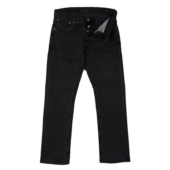 Nudie Jeans Mens Black Grim Tim Jeans main image