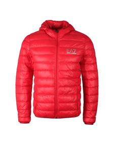 EA7 Emporio Armani Mens Red Train Core ID Light Down Jacket