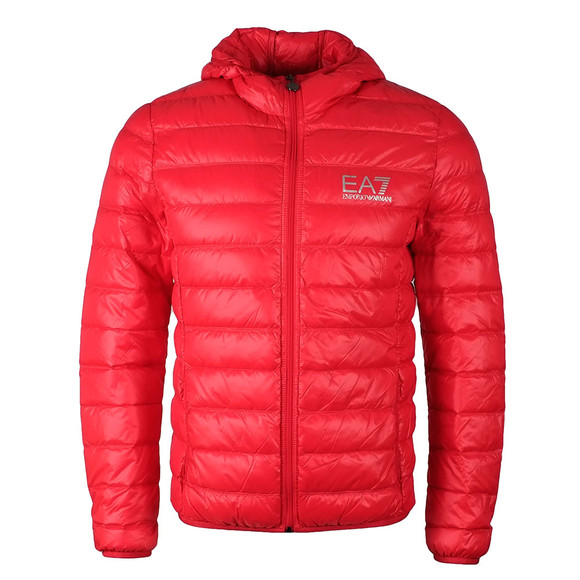 EA7 Emporio Armani Mens Red Train Core ID Light Down Jacket main image