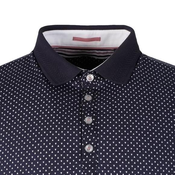 Ted Baker Mens Blue S/S Geo Print Polo main image