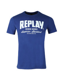 Replay Mens Blue S/S Print Tee