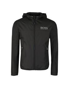 BOSS Green Mens Black Jeltech Hooded Jacket