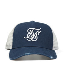 Sik Silk Mens Blue X Starter Distressed Trucker