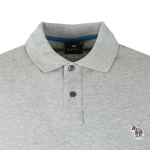 PS Paul Smith Mens Grey Zebra Polo Shirt main image