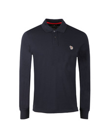 Paul Smith Mens Blue Zebra LS Polo Shirt
