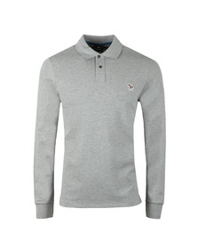 Paul Smith Mens Grey Zebra LS Polo Shirt
