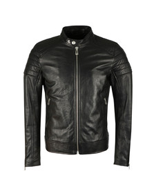 Belstaff Mens Black Northcott Leather Blouson