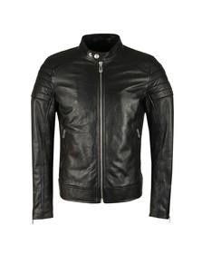 Belstaff Mens Black Northcott Leather Blouson