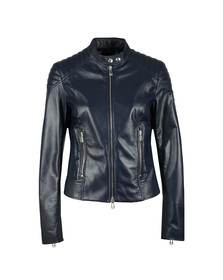 Belstaff Womens Blue Mollison Leather Jacket