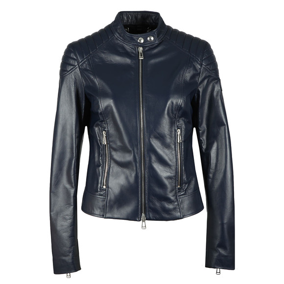 Belstaff Womens Blue Mollison Leather Jacket main image