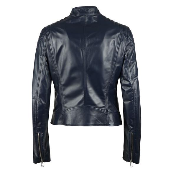 Belstaff Womens Blue Mollison Leather Jacket main image