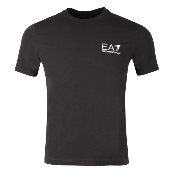 EA7 Emporio Armani Mens Black Small Metallic Logo T Shirt main image