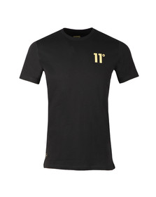 Eleven Degrees Mens Black Gold Logo T Shirt