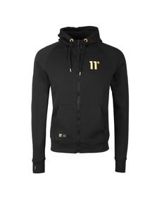 Eleven Degrees Mens Black Gold Logo Full Zip Hoody