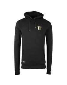 Eleven Degrees Mens Black Gold Logo Pullover Hoody