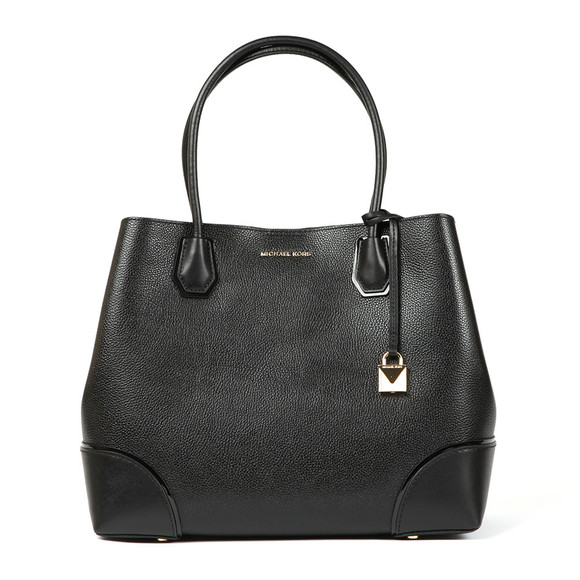 Michael Kors Womens Black Mercer Corner Large Tote main image