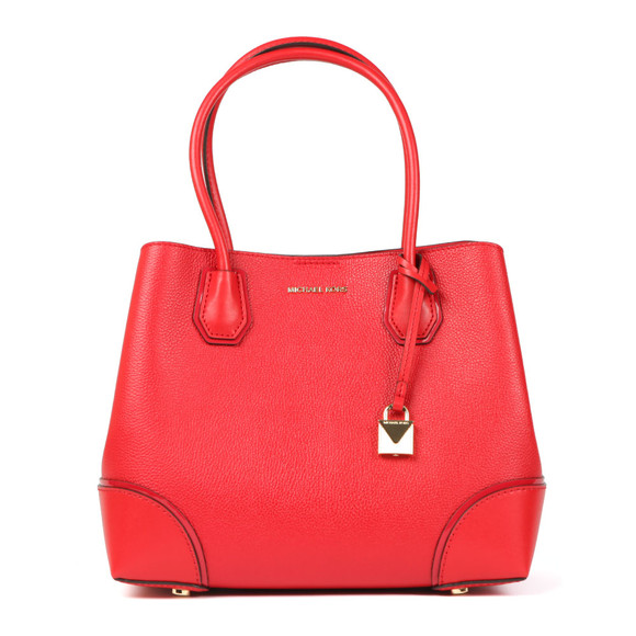 Michael Kors Womens Red Mercer Corner Mid Tote  main image